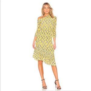SALONI Lexi Dress in Golden Alga